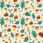 Link toMushroom and green leaf background vector