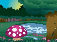 Link toMushrooms landscape vector free