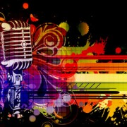 Link toMusic 038 mike stylish vector background 03