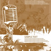 Link toMusic 038 mike stylish vector background 05