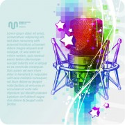 Link toMusic 038 mike stylish vector background 08