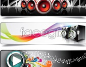 Link toMusic banner vector templates