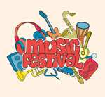 Music festival arts vector