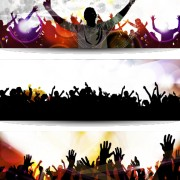 Link toMusic party creative banner vector graphics 02 free