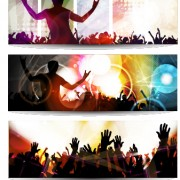 Link toMusic party creative banner vector graphics 05 free