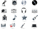 Link toMusic-related icons vector