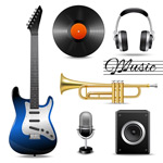 Link toMusical instrument icon vector