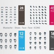 Link toMustache - shoes - face icons vector free