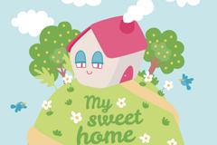 Link toMy sweet home vector illustration