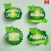 Link toNatural food label design vector 02