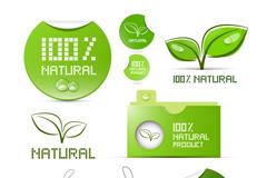 Link toNatural green product labels vector