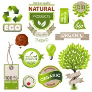 Link toNatural with eco labels and tags vector free