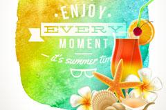 Link toNeon beach summer holiday tag vector