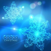 Link toNeon snowflake new year and christmas background 01 vector