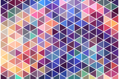 Link toNeon triangle mosaic background vector