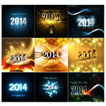 Link toNew year 2014 font background vector