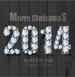 Link toNew year 2014 font vector
