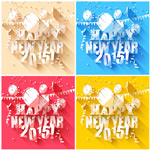 Link toNew year card vector