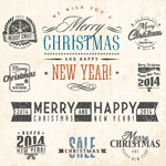 Link toNew year christmas labels vector