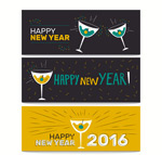 Link toNew year cocktail banne vector