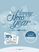 Link toNew year discount posters vector