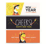 Link toNew year's eve party banner vector