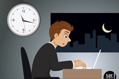 Link toNight business men work vector