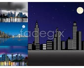 Link toNight city vector landscape/architecture
