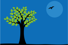 Link toNight of silence-tree vector