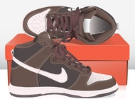 Nike basket shoes vector free