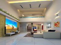 Link toNo color line penthouse living room model