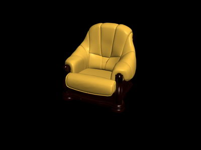 Link toNo material yellow single old-fashioned sofa3d model