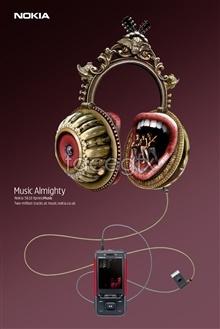 Link toNokia music phone creative poster design psd
