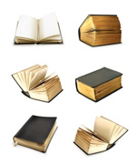 Nostalgia book icon vector