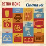Link toNostalgic films element icons vector