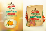Link toNostalgic thanksgiving poster vector
