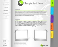 Link toNotepad page template open book books vector