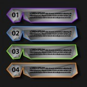 Link toNumber banners creative design vector 01