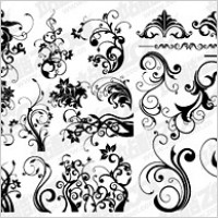 Link toNumber of black-and-white pattern vector material for fashion