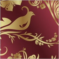 Link toNumber of golden flowers and birds butterfly pattern