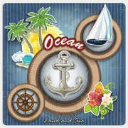 Link toOcean sail elements background vector free