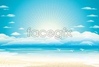 Link toOcean sunrise hd vector graphics