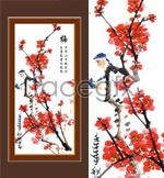 Link toOf the classic chinese painting-plum psd
