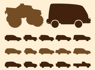Link toOff-road car silhouettes vector free