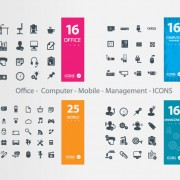 Link toOffice - computer - mobile - management icons vector free