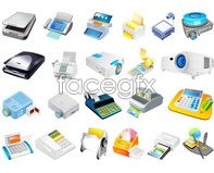 Link tovector computer vector supplies machine fax Office