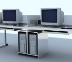 Office furniture  001 – desks 3d model
