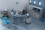 Office of 3d models