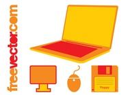 Link toOffice tech icons vector free