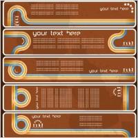 Link toOld banner vector